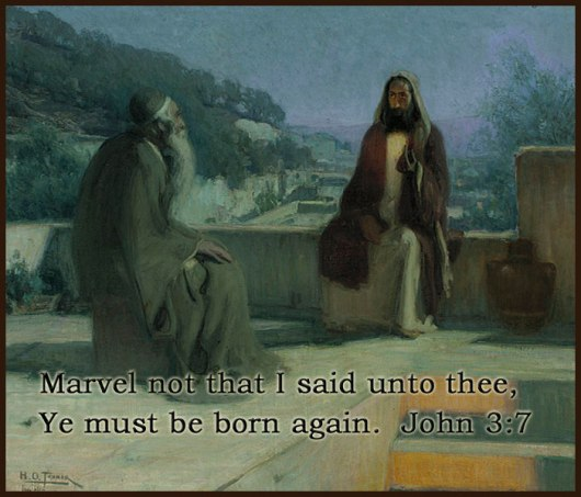 """""""Jesus and Nicodemus""""  by Henry Ossawa  Tanner"""
