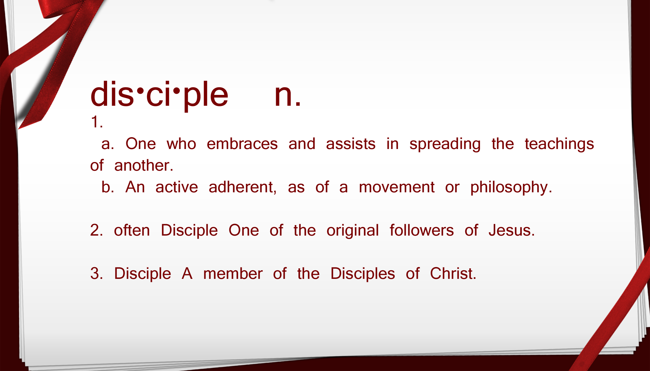 Disciple Definition